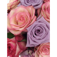 thumb-Rozen boeket roze zachte kleuren-1
