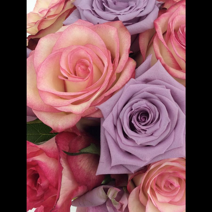Rozen boeket roze zachte kleuren-1