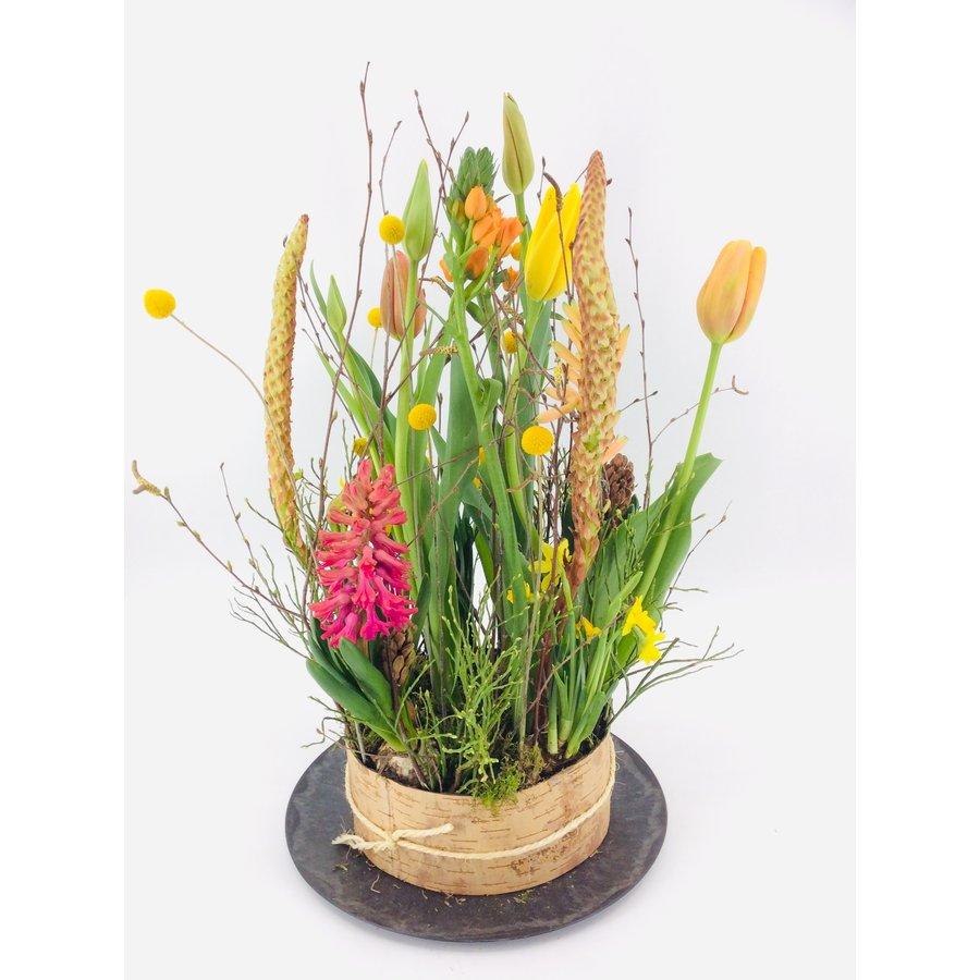 Tuintje bonte bloemen op schaal-1