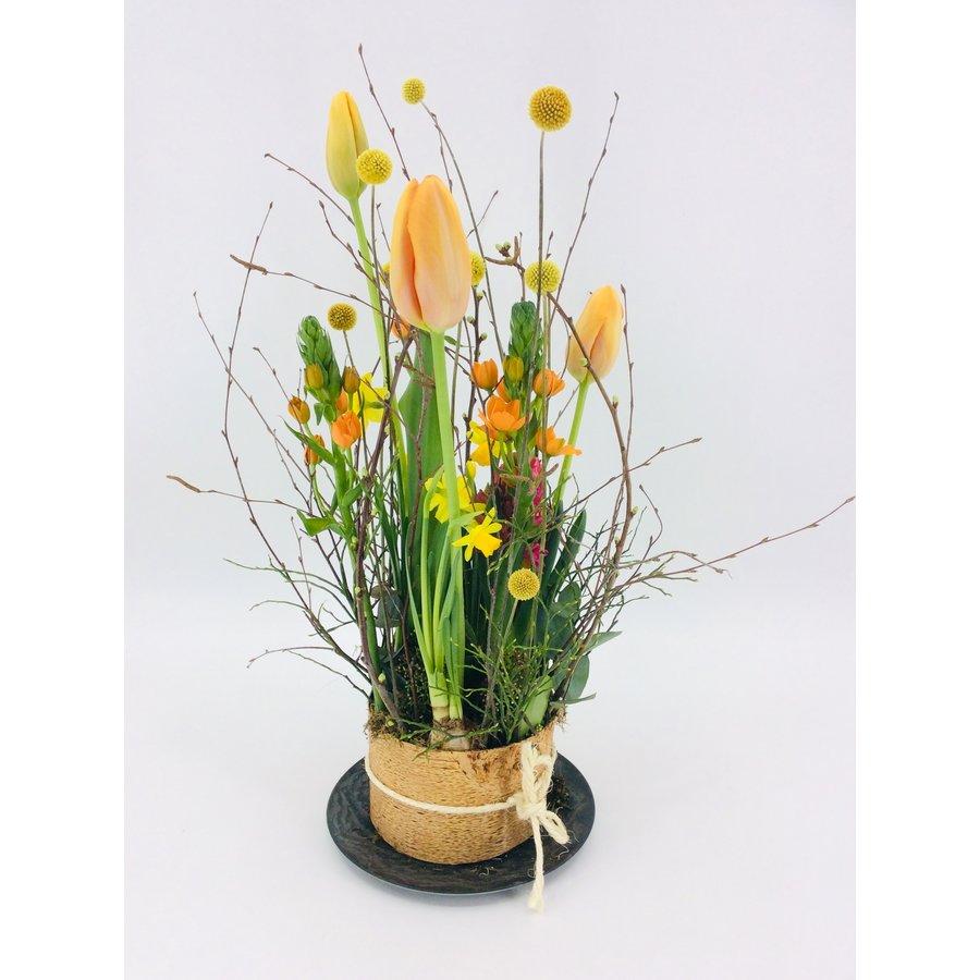 Tuintje bonte bloemen op schaal-2