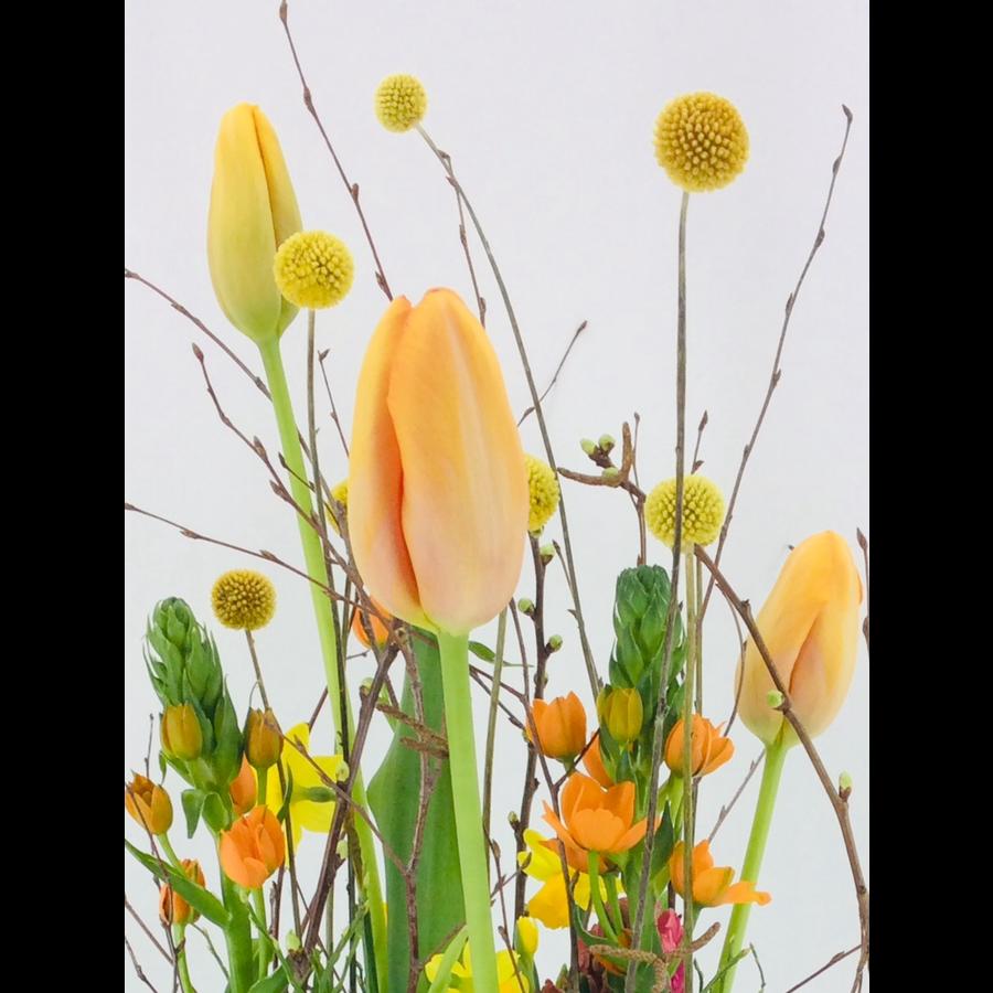 Tuintje bonte bloemen op schaal-3