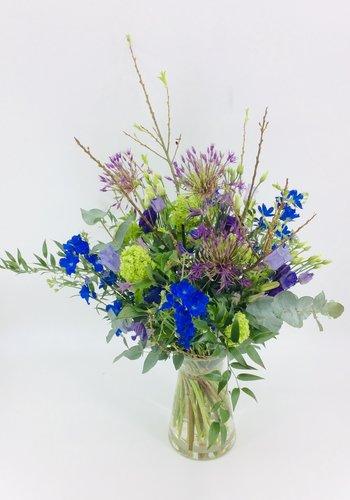 Abelia Meesterbinders Plukboeket  blauw tinten