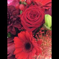 thumb-Rouwbiedermeier rode bloemen-1