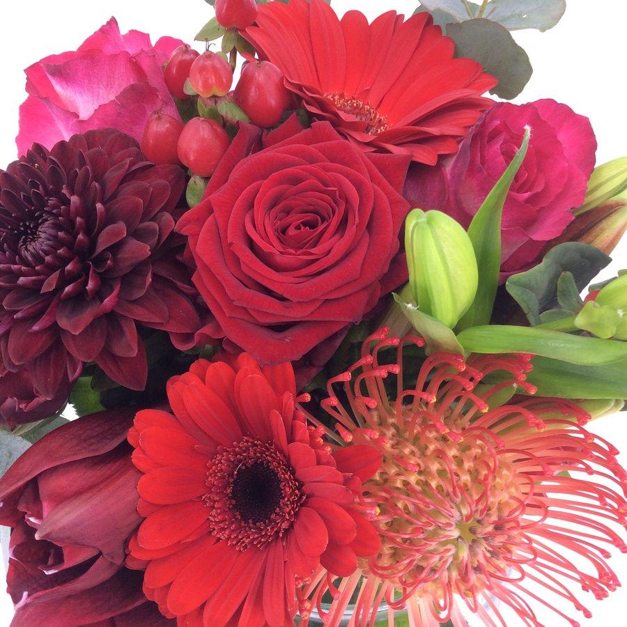 Rouwbiedermeier rode bloemen-2