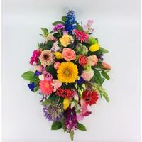 thumb-Ovaal gestoken kleurrijk afscheidsbloemen-2