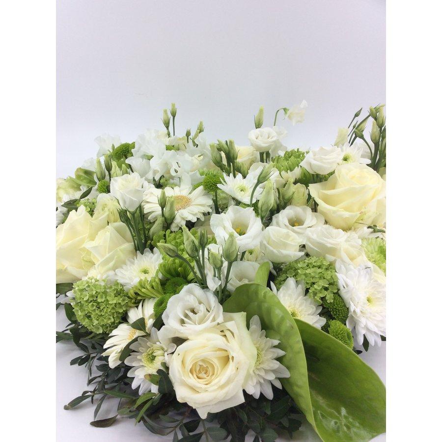 Wit groen hart rouwstuk-3