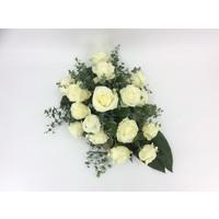 thumb-Witte rozen rouwbloemstuk-1