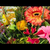 Boeket seizoensbloemen