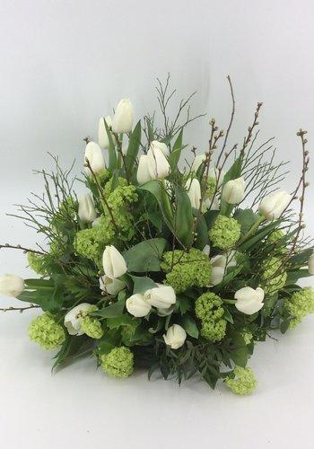 Abelia Meesterbinders Tulpen voor uitvaart