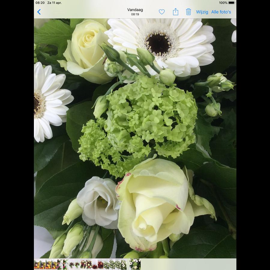 Bloemen voor uitvaart wit-8