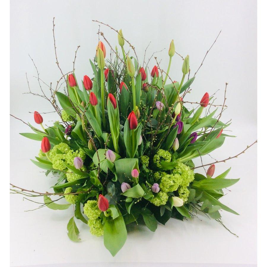 Tulpentuin gekleurd voor uitvaart-6