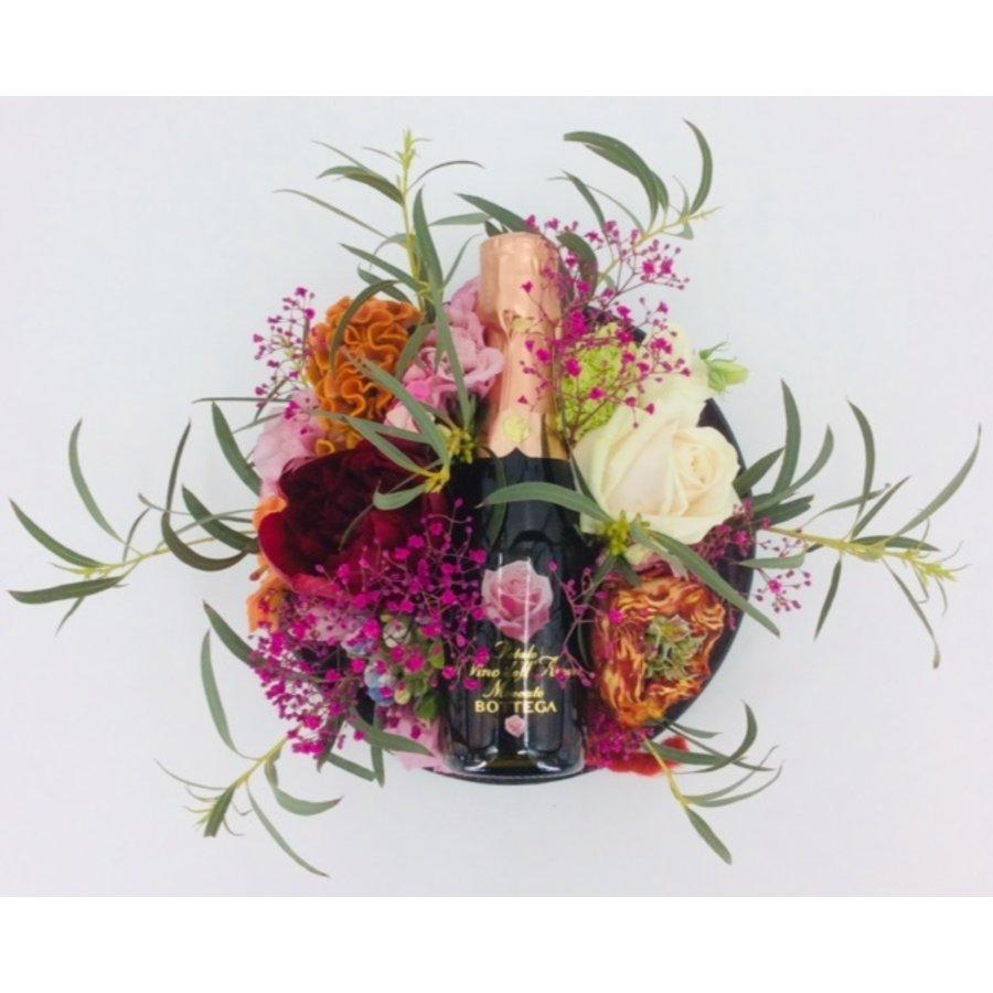 Bloementaart + flesje Bottega-3