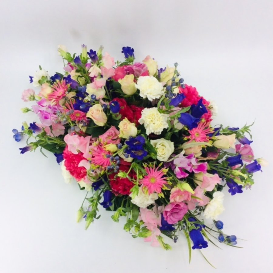 Fijne  kleurrijke afscheidsbloemen-1