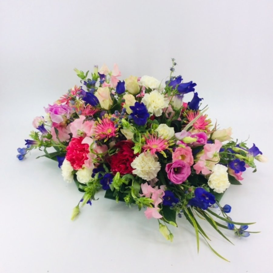 Fijne  kleurrijke afscheidsbloemen-4