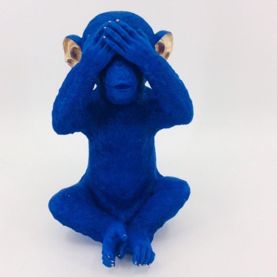 Spaarpot Monkey Mizaru Blue-1