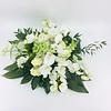 Abelia Meesterbinders Wit groen rouwbloemstuk met Orchideeën W3