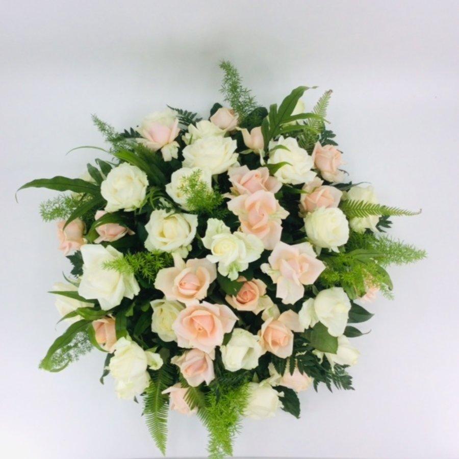 Zalm en  witte rozen ovaal-3