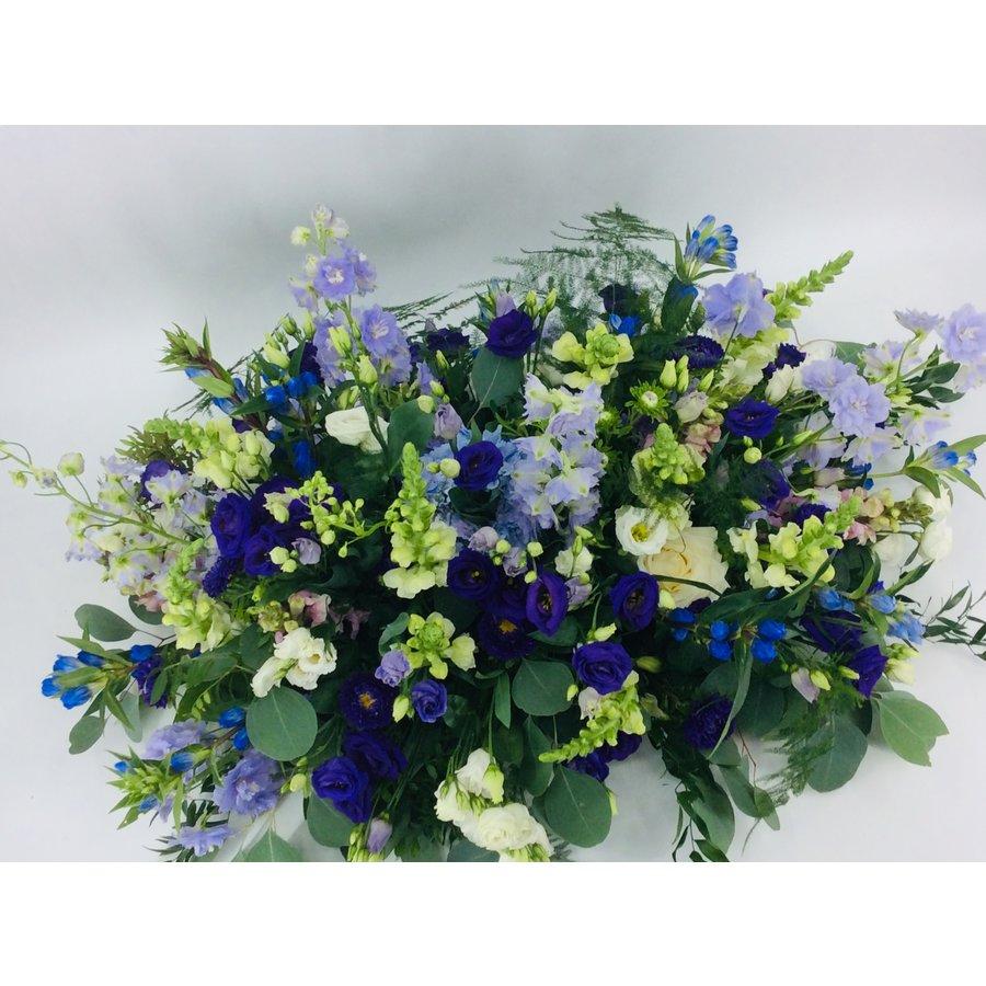 Kistbedekking in blauw paars-1