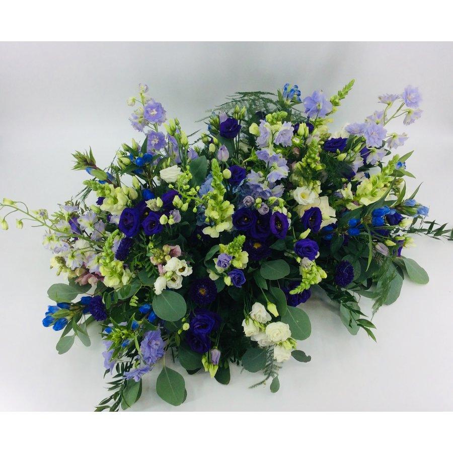 Kistbedekking in blauw paars-3