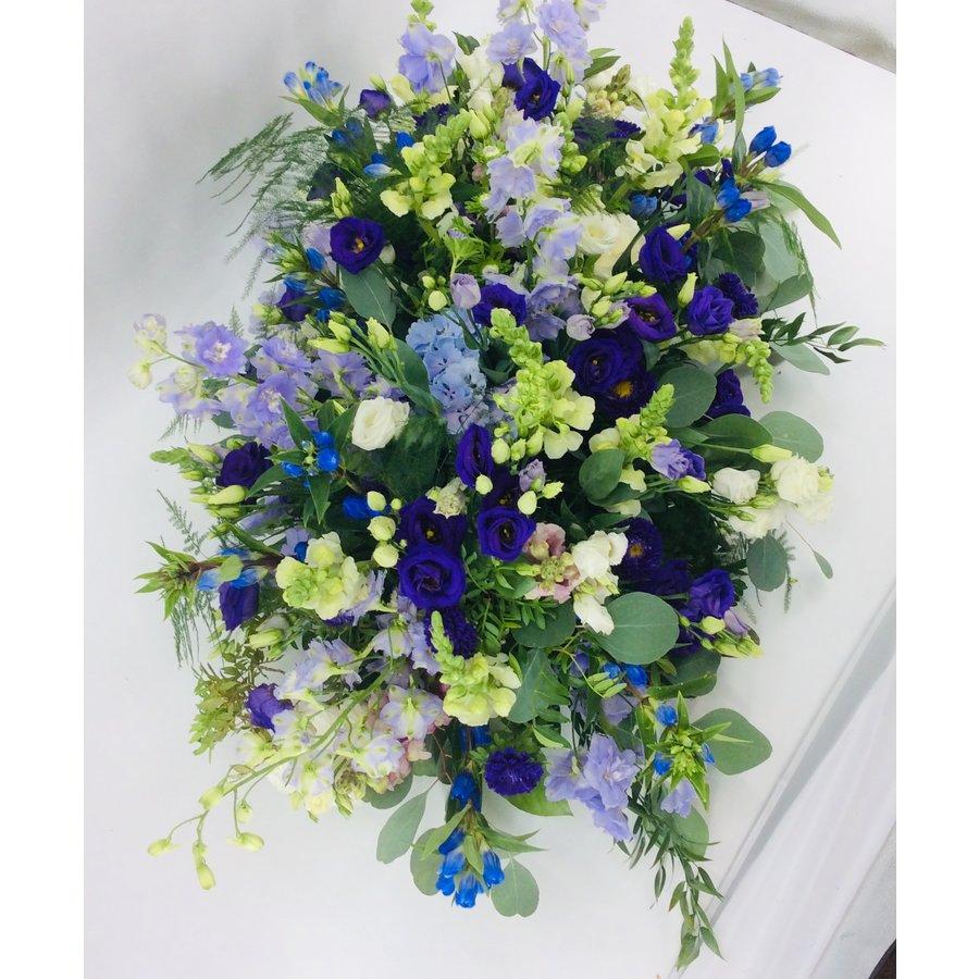 Kistbedekking in blauw paars-4