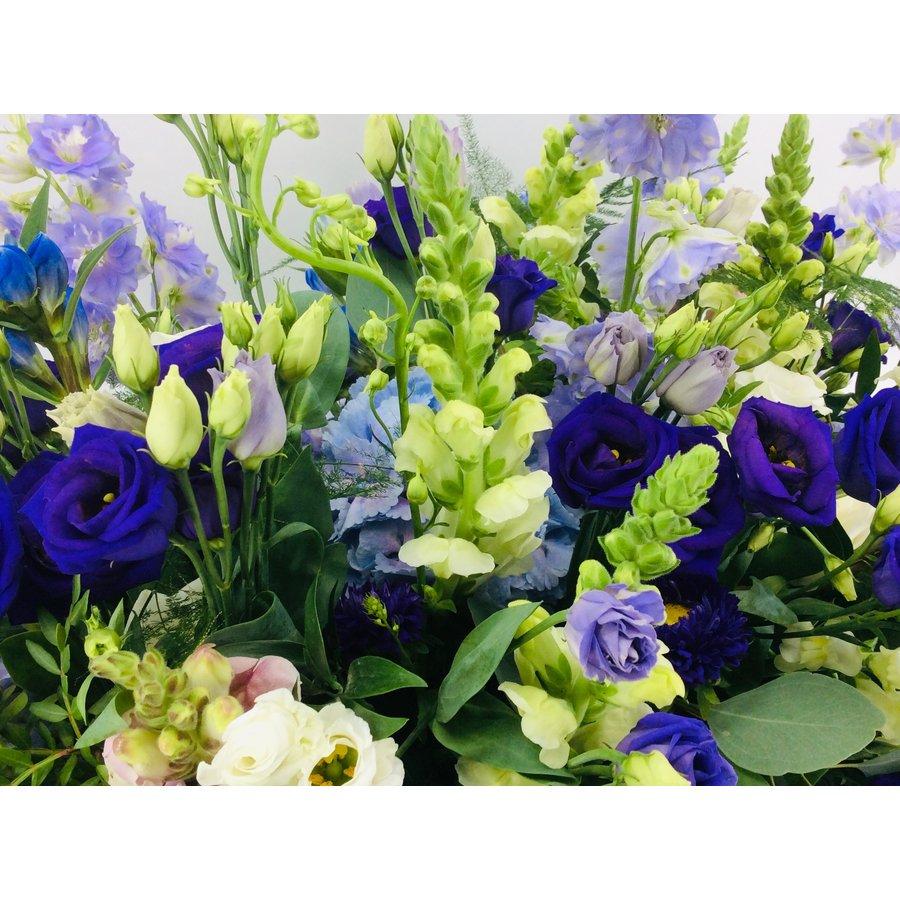 Kistbedekking in blauw paars-5