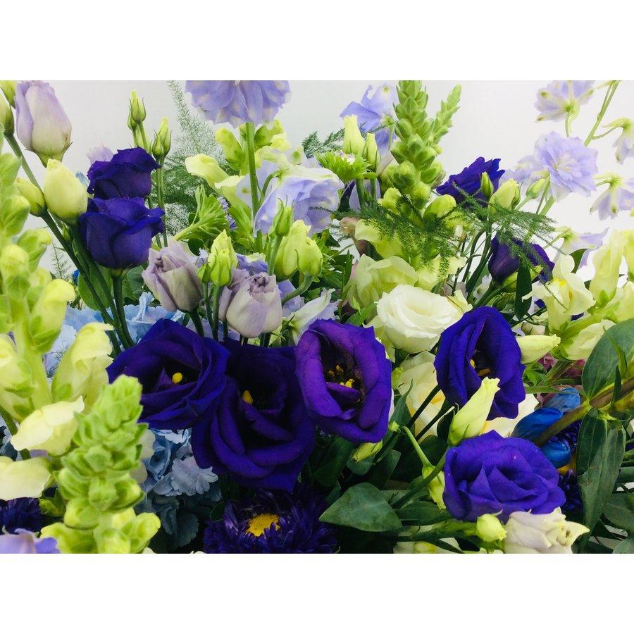 Kistbedekking in blauw paars-2