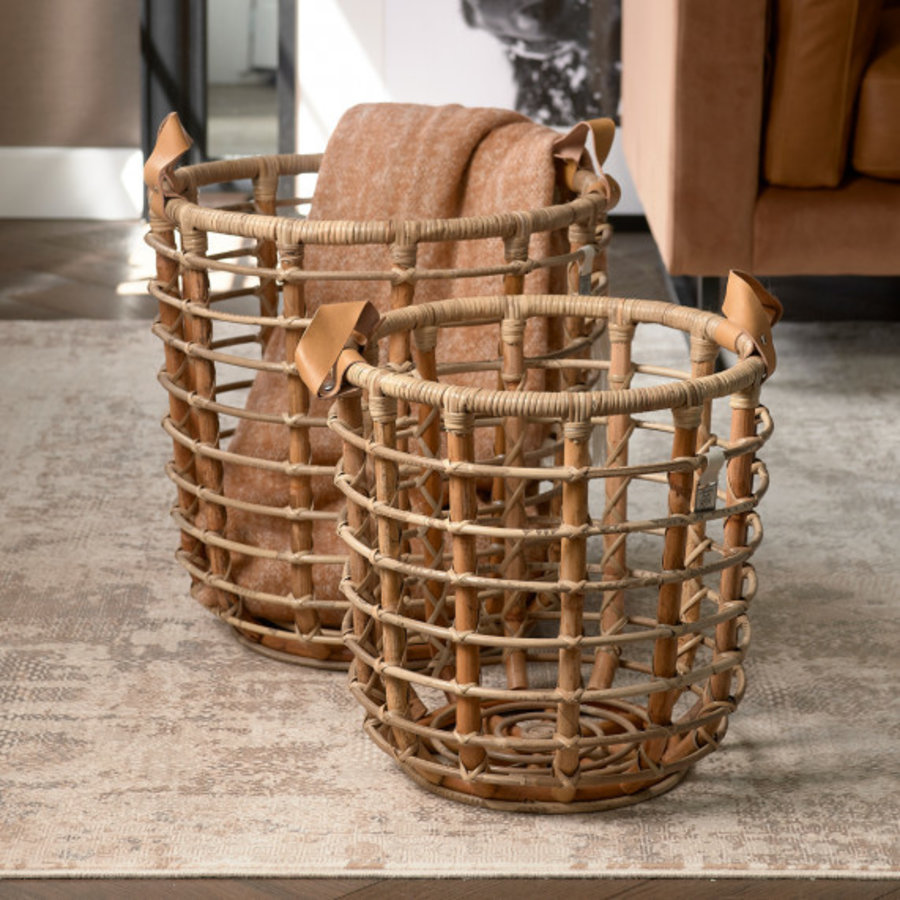 Courageous Chique Basket Natural groot-1