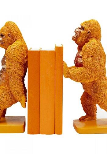 Abelia.nl Decoratie Boekensteun Gorilla Orange (2 / set)