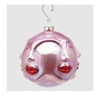 Palla Kus glas Kersthanger Rood Roze