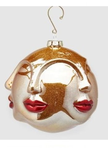 Abelia Meesterbinders Palla Kus glas Kersthanger 12cm rood goud