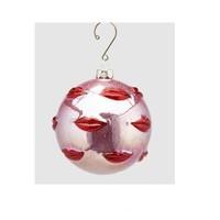 Palla Kus glas Kersthanger 10cm Roze