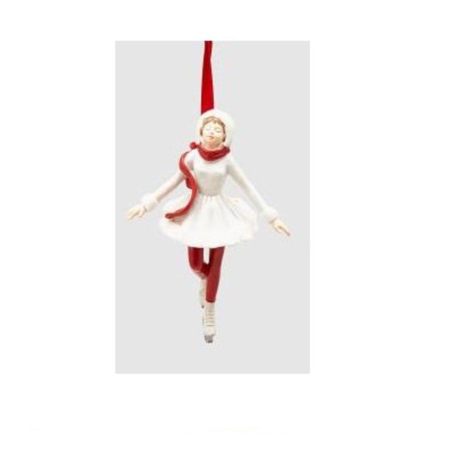 Meisje op schaats wit Kersthanger-1