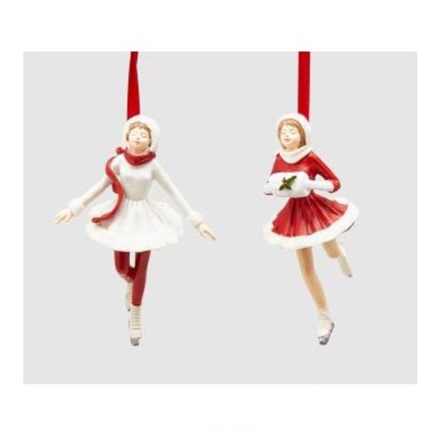 Meisje op schaats wit Kersthanger-2