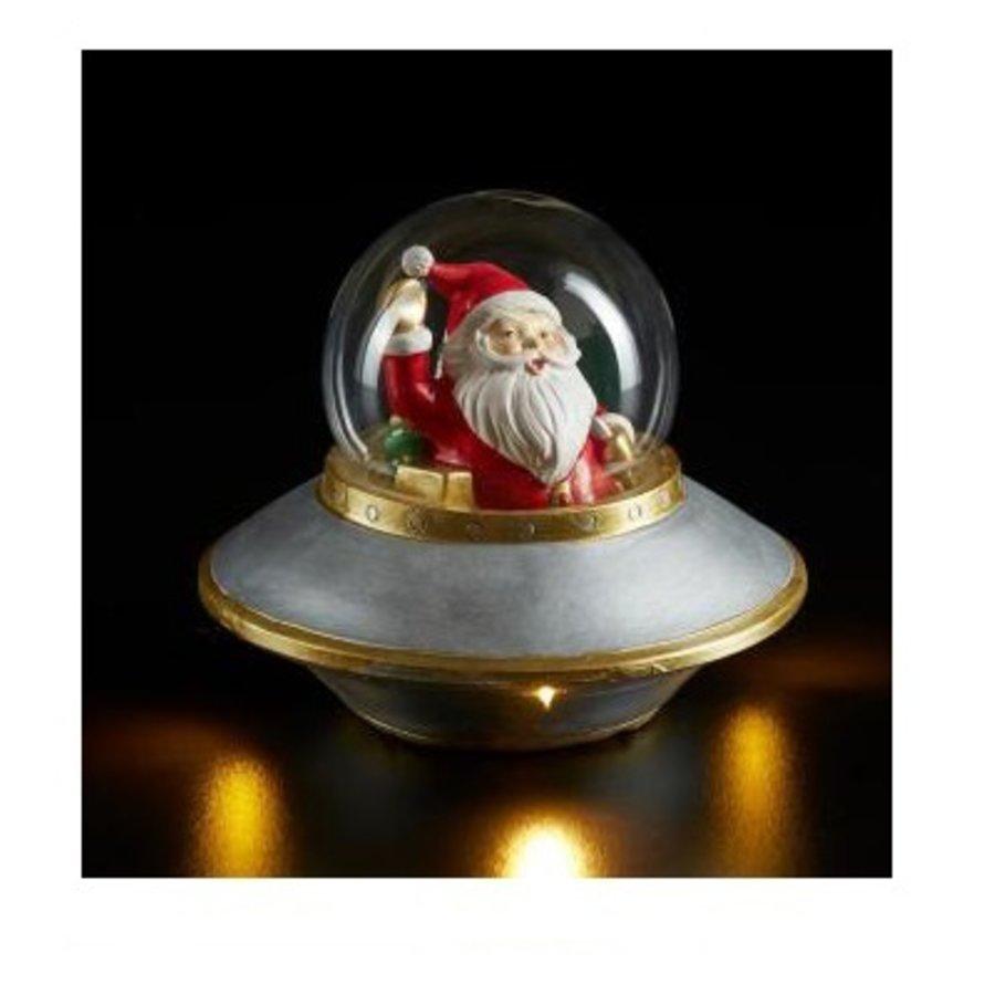 Kerstman in Ufo met verlichting-1