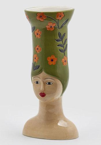 Hoge hoed vaas Lang groen