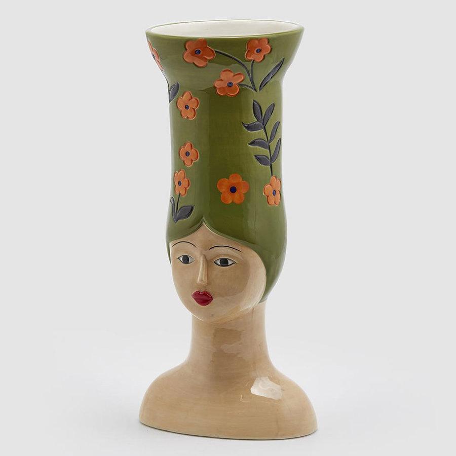 Hoge hoed vaas Lang groen-1