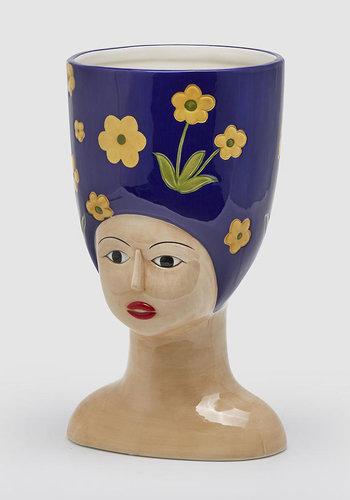 Hoge hoed vaas L. donker blauw