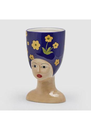 Abelia Meesterbinders Hoge hoed vaas L. donker blauw