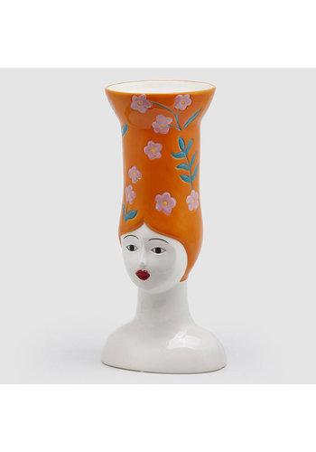 Abelia Meesterbinders Hoge hoed vaas lang oranje
