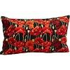 Abelia.nl Decoratie Poppy kussen zwart 30x50cm