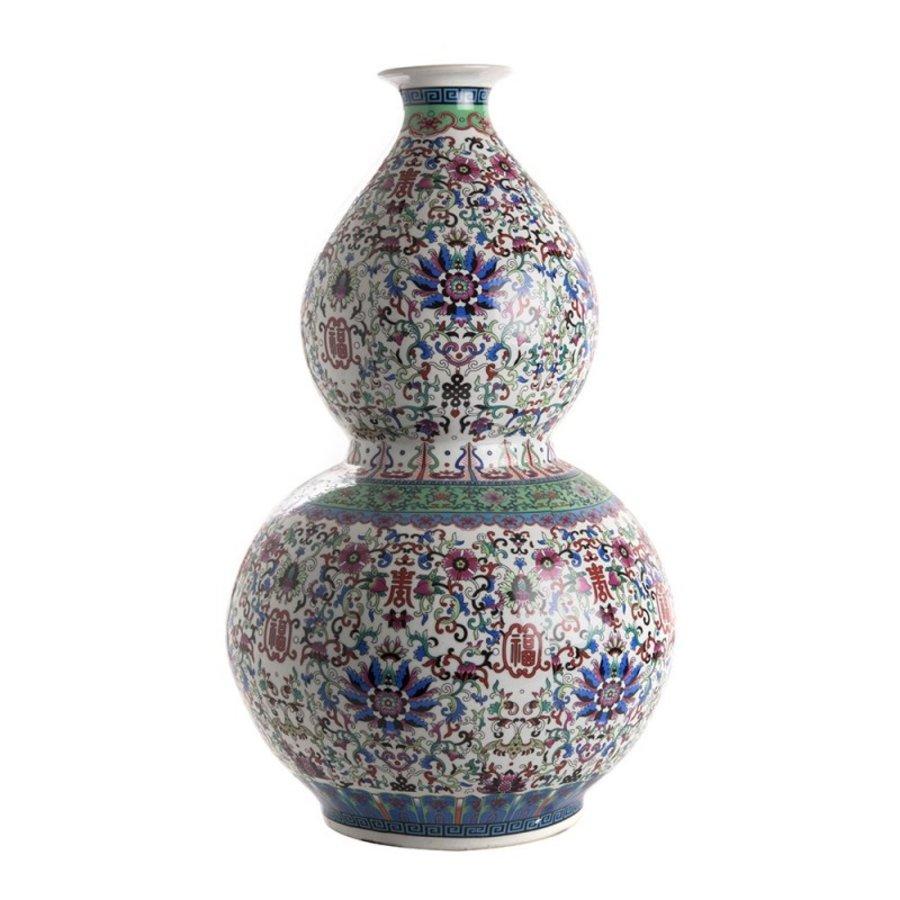 Qianlong dubbele kalebasvaas-1