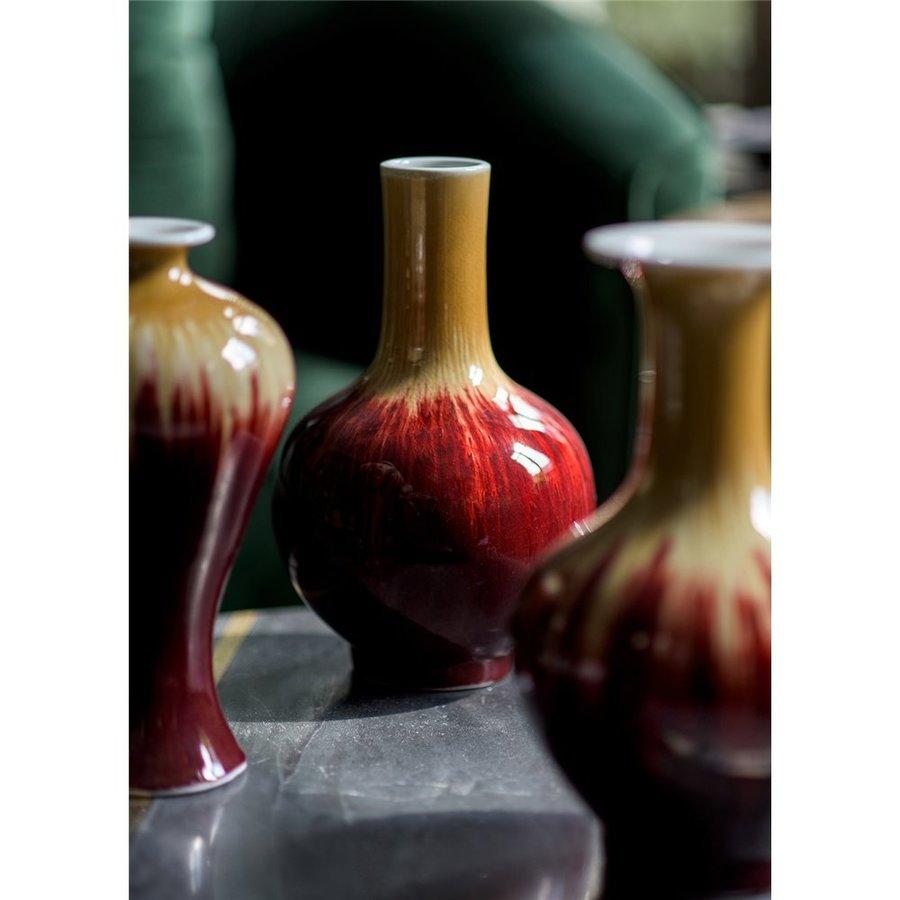 Flare vaas met runderbloed coulure-2