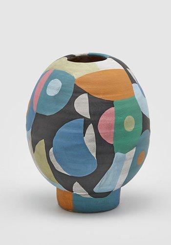 Abelia.nl Decoratie Multicolor vaas ovaal