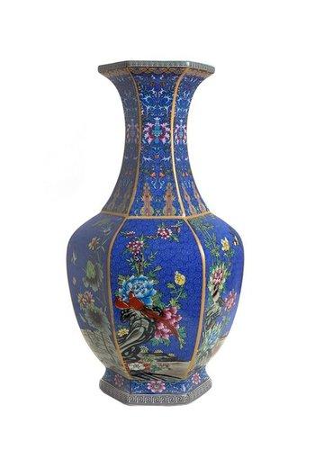 Abelia.nl Porselein Blauwe porseleinen vaas L