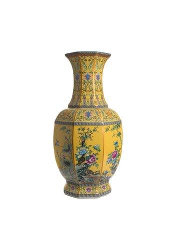 Abelia.nl Porselein Gele porseleinen vaas
