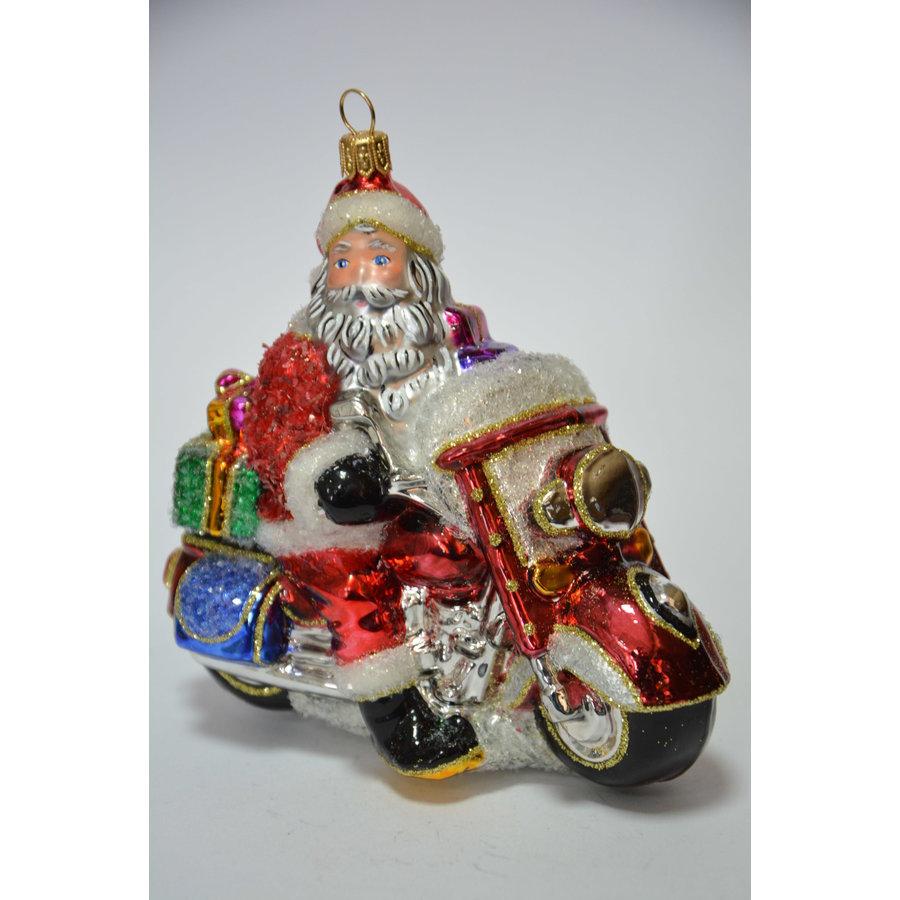 Kerstman op motor-1