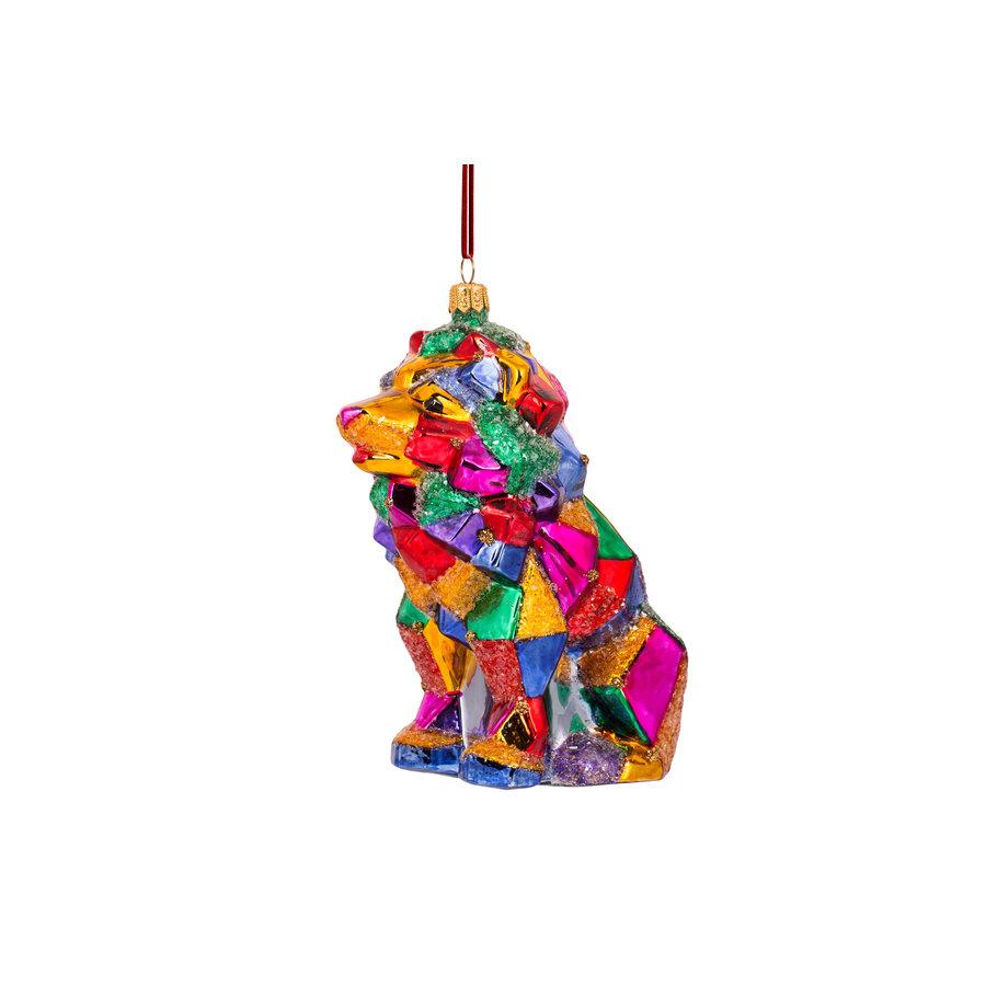 Kerstleeuw kleurig-3