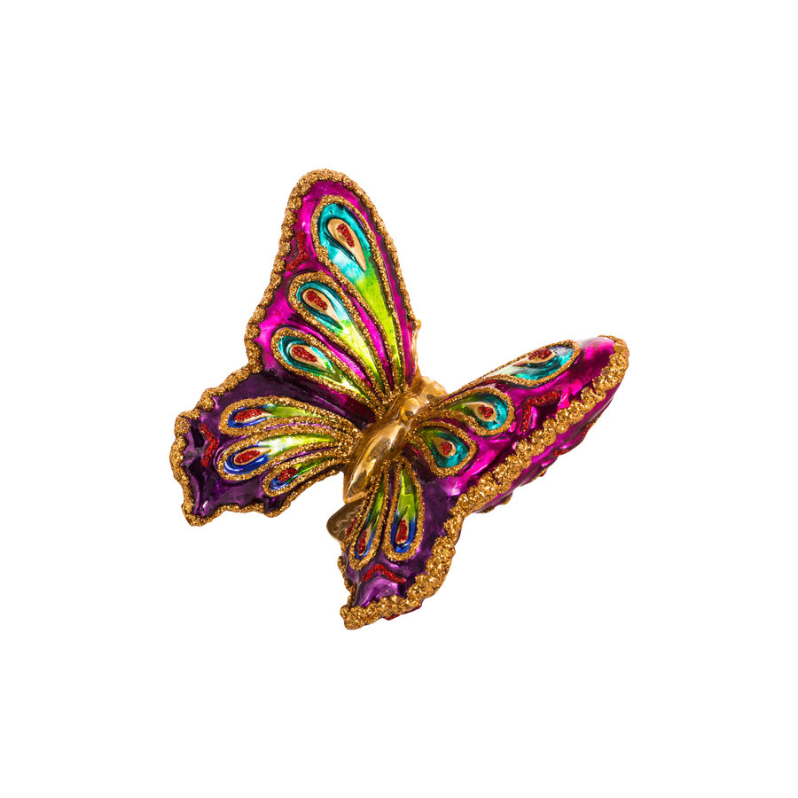 Kerst Vlinder kleurig-1
