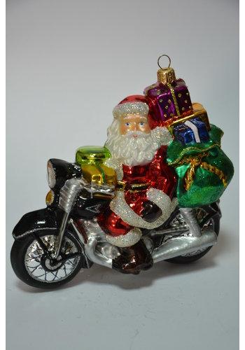 Abelia.nl Kerst Kerstman op motorfiets