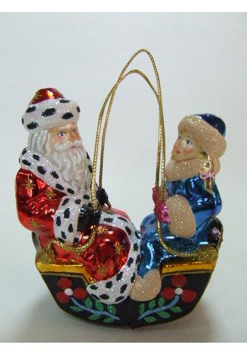 Abelia.nl Kerst Kerstman en dame in gondel